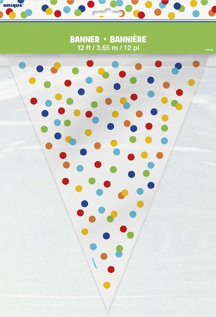 Multi-colour Confetti Bunting In Plastic